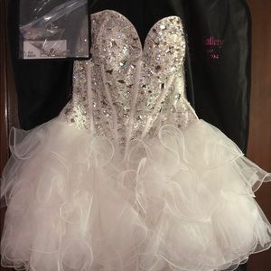 sherri hill, white diamond cupcake dress